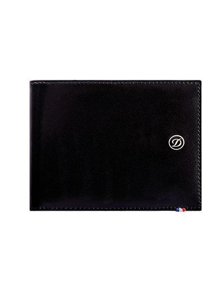 936dd18b682 S.T. Dupont Billfold 6 credit cards Line D Leather Black