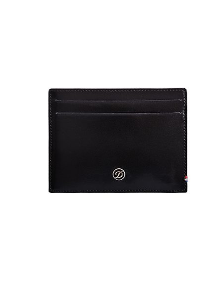 44762446aaa S.T. Dupont Card holder 4 credit cards Line D Leather Black